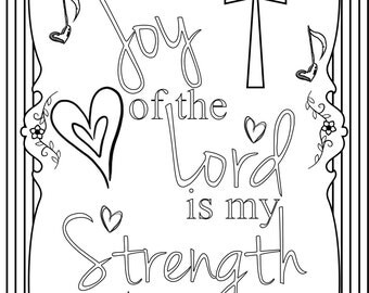 Joy of the Lord Adult Coloring Page