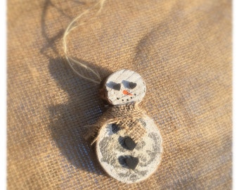 Snowman Ornament/ Snow Person/ Christmas Tree Ornament/ Christmas Decorations/ Hanukkah Bush Ornament/ Handmade Ornament