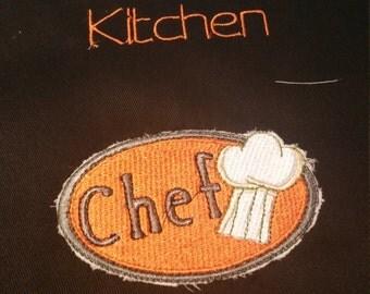 Monogrammed  kitchen apron