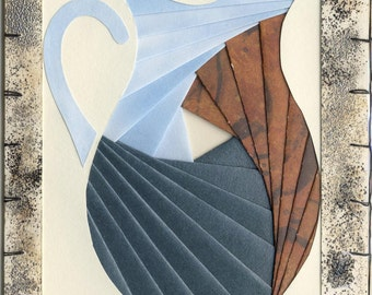 Handmade Thinking of You Greeting Card - Iris folded Pitcher v.2