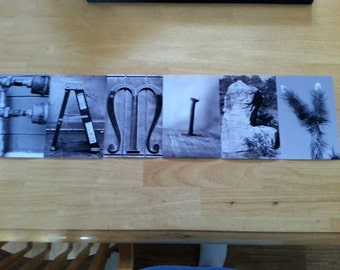 """Photo's of word """"Family"""" in Black and white or in color"""