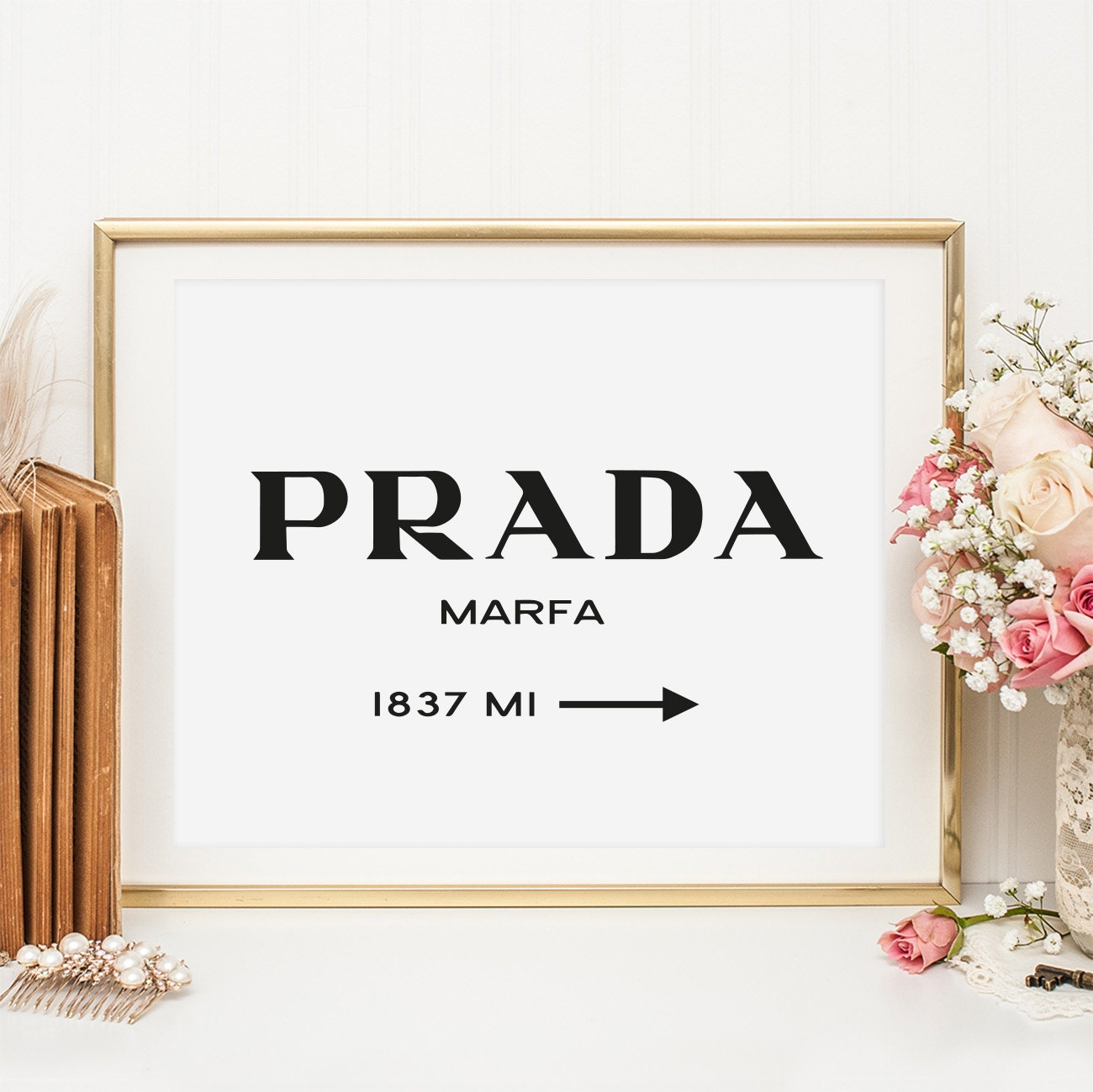 poster print wallart prada marfa by talesbyjen on etsy. Black Bedroom Furniture Sets. Home Design Ideas