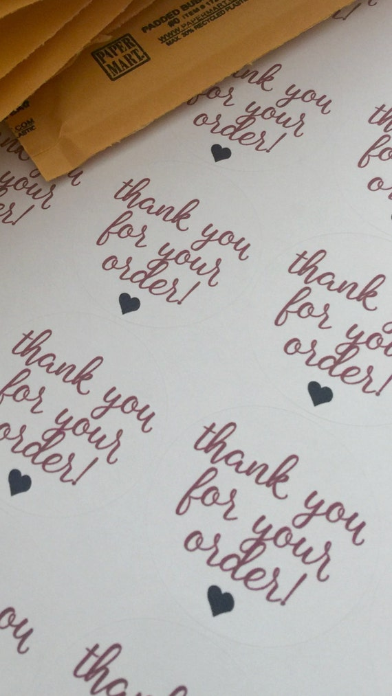 Thank You Stickers Thanks For Your Order Custom Stickers Custom - Order custom stickers