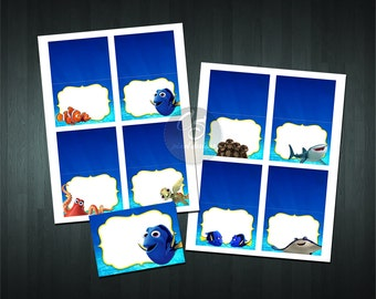 FINDING DORY FOOD Tent Cards ( 8 Blank Tent Cards)