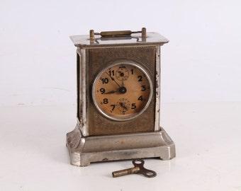 Vintage Old German Made Gustav Beker Carriage Clock.