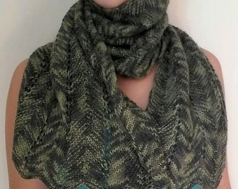 handmade knitted winter scarf multicolor