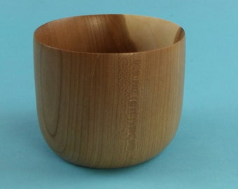 Light end grain green turned cherry cup