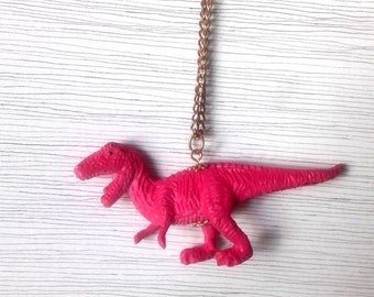 Pink T-Rex Necklace