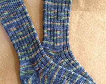 Hand cranked superwash socks