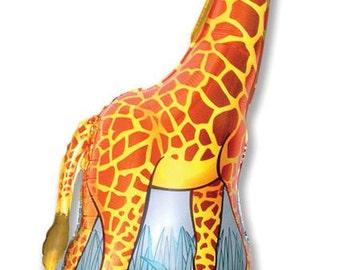 FAST SHIP Jumbo Giraffe Birthday Balloons, Giraffe Party Balloons, Zoo Animals Foil Balloons, Jungle XL Giraffe Birthday Party Supplies