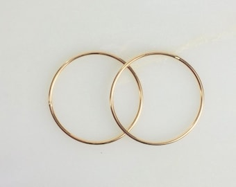 24.5mm 14k Gold Filled 18ga CLOSED Jump Rings, Made in the USA