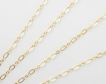 14k Gold Filled Flat Oval Long and Short 4.5x2.5mm