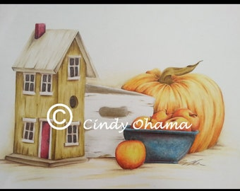 Autumn Still Life (Colored Pencils) by Cindy Ohama