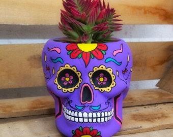 Purple Flower Skull