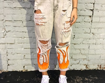 Flamed Jeans