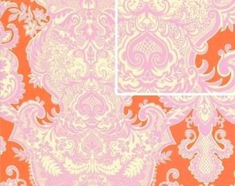 Amy Butler Fabric SALE, Love Collection, Sandlewood in Tangerine Orange - 1 FAT QUARTER