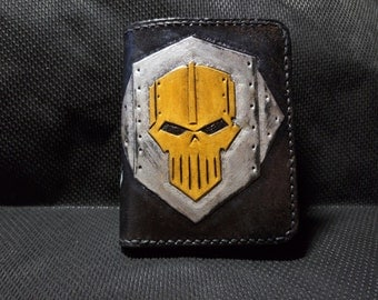 Handmade wallet  (natural leather, stylished by Warhammer 40k)