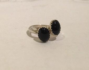 Black onyx stone rings