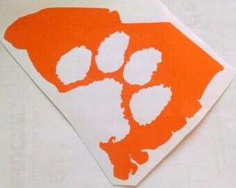 South Carolina Clemson Paw Decal