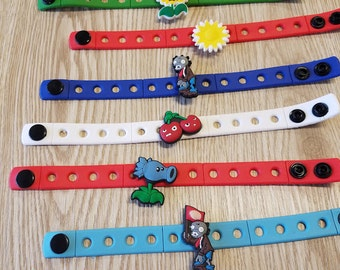 10  Plants Vs Zombies Silicone Bracelets Party Favors