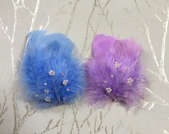 Handmade Delicate Feather Facinator/Special Occasion Hair Clip