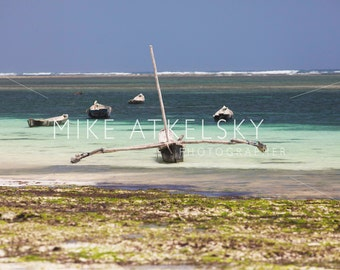 Traditional Local Fishing Boat On The Indian Ocean