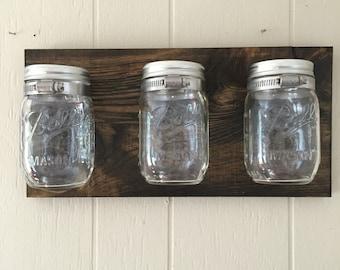 Mason Jar Wall Storage Decor