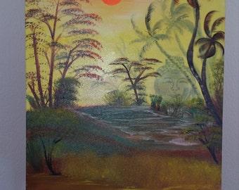 Buddha XL original oil painting