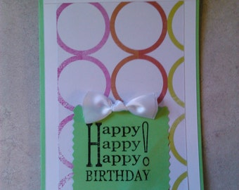Hand made HAPPY BIRTHDAY Card (Set of 5)