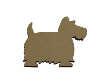 10 * Scotty Dog 4cm - 10cm , Option To Have With Or Without Hanging Hole
