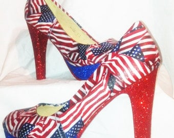 American Flag heels * * * uk sizes 3-8 * * *