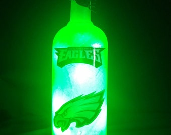 Philadelphia Eagles bottle lamp