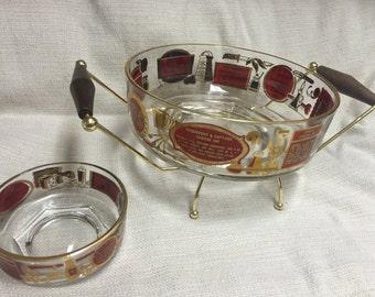 Vintage 1950's Chip & Dip Bowl Set