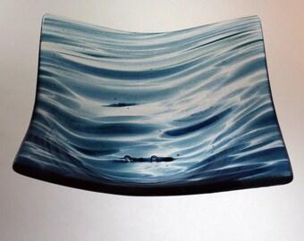 19 cm square bowl - 'Jo' glass