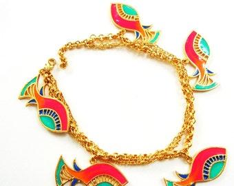 Fish charm bracelet
