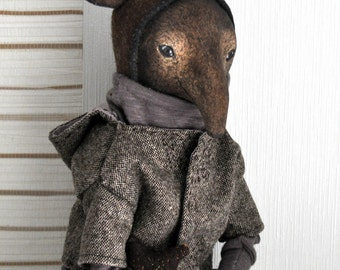 Sold//// Art doll tapir Morris