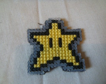 Mario Star Cross Stitch Magnet