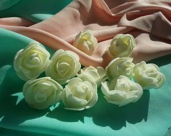 10 piece foam flower set