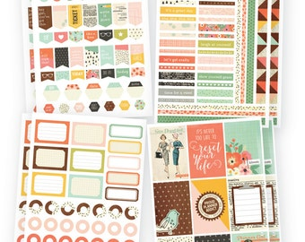 "Simple Stories ""The Reset Girl"" Planner Basic Stickers"