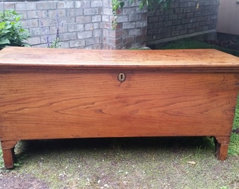 Antique English Blanket Chest   Antique English Oak Coffer, Blanket Chest, Coffee  Table