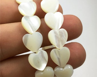10mm Mother Of Pearl Shell Heart Beads,Shell Jewelry