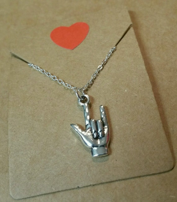 I Love You Sign Language Necklace