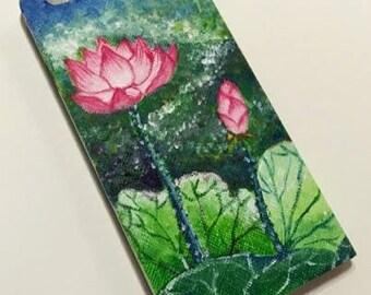 iPhone 6 /6s Case - hand drawn - Lotus Pond