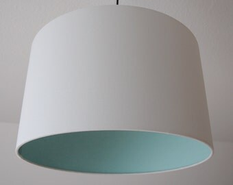 "Lampshade ""White-mint"""