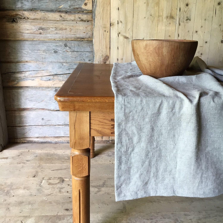 Natural Linen Table Cloth, Rustic Gorgeous Texture Taupe Linen Tablecloth  Rectangle, Tablecloth Square, Farmhouse Table, Tablecloth Linen