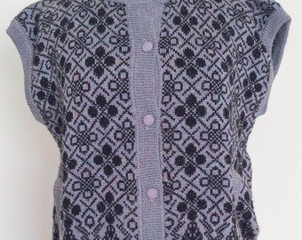 1980's Purple Knit Vest Vintage