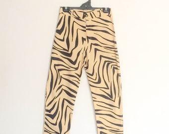 1990s Hot Tuna Tiger Print Cigarette Pants Vintage