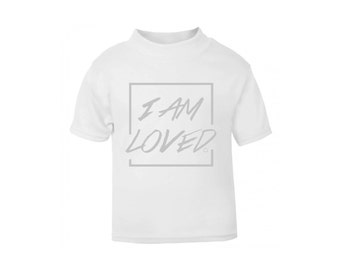 White 'I am loved' T-Shirt / Baby Grow