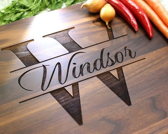 Personalized Cutting Board - Engraved Cutting Board, Custom Cutting Board, Wedding Gift, Housewarming Gift, Anniversary Gift W-004 GB
