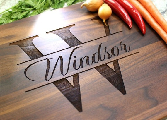 Personalized Cutting Board - Engraved Cutting Board, Custom Cutting Board, Wedding Gift, Housewarming Gift, Anniversary Gift W-004 GB